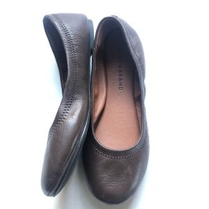Lucky Brand Emmie leather brown ballet flat soft 7
